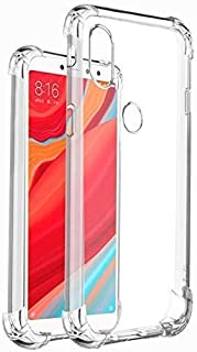 E-COSMOS for Redmi Y2 Case Cover Slim Crystal Clear Soft TPU Back Cover (Transparent)