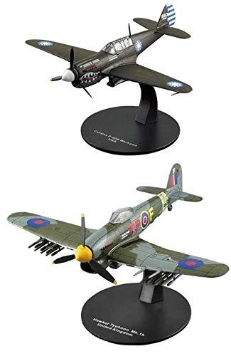 OPO 10 - Set mit 2 Kampfflugzeugen Curtiss P-40 Warhawk + Hawker Typhoon 1/72 (AC21 + AC35)