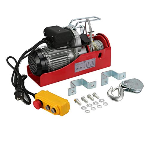 Praktisches elektrisches Windenmotor-Windenwiederherstellungskabel Zugmotor-Windenlastkapazität 500 / 1000KG Auto Auto Lift Winch Zubehör - Rot