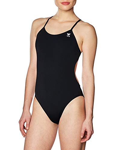 TYR TFSOD7A126 Solid Cutoutfit Swimsuit Black 26