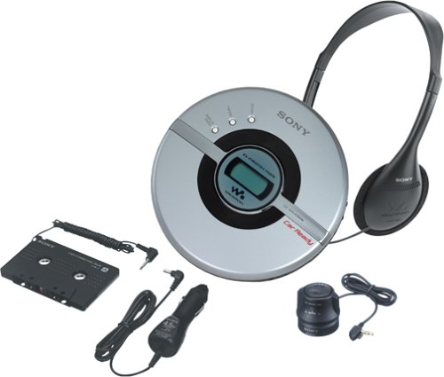 Sony D-EJ106CK Walkman Portable CD Player with Car Kit (Silver)