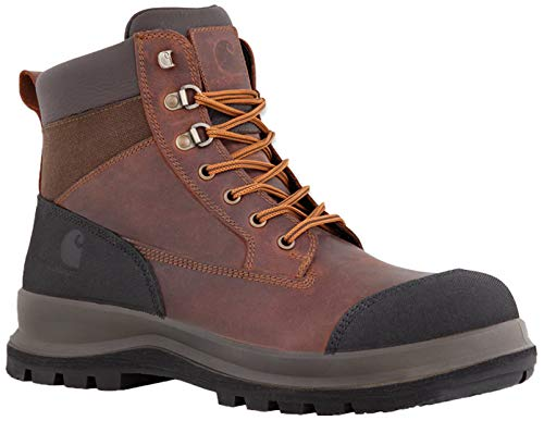 Carhartt Herren Detroit 6 Inch Rugged Flex S3 Safety Boot Construction Shoe, Dark Brown, 43 EU