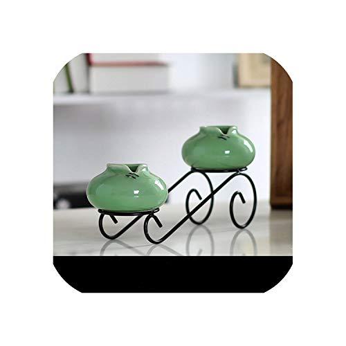 Retro Keramik Vase Set Tischplatte Home Decoration Ethnische Handarbeit Büro Dekoration Vase Hochzeit Geschenk Business Geschenke, P, Einheitsgröße