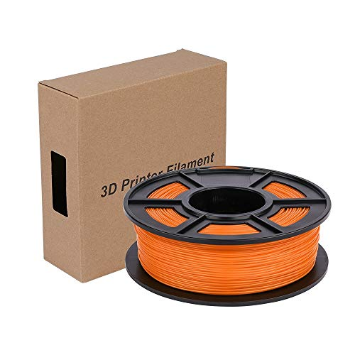 DZF-BGS 6 Color Option 3D Printer Filament 1.75mm PLA Plastic Filament Materials 1Kg/Roll PLA Compatible with All 3D Printers n 3D Pen (Color : Orange)