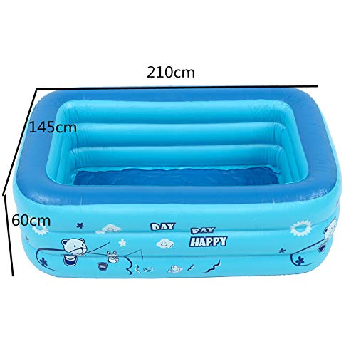 gousheng Swimmingpool Home Use 120/130 / 150Cm Kinderbadewanne Baby Home Paddelbecken Aufblasbarer Quadratischer Swimmingpool