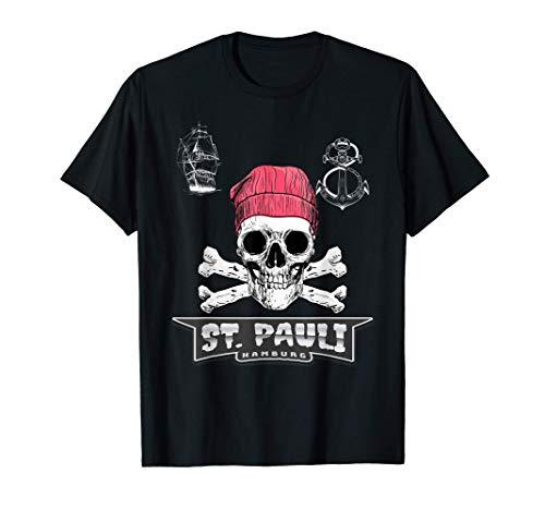 St. Pauli Hamburg Paulianer Totenkopf Sankt Pauli T-Shirt