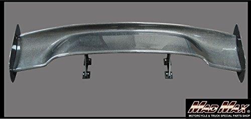 汎用 GTウイング スポイラー 3D 綾織りリアルカーボン TYPE3 ブラック MM-AKWY6803CF