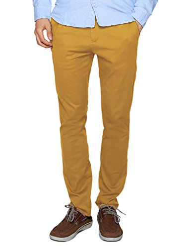 Match Men's Slim Tapered Stretchy Casual Pant (30, 8114 Khaki Yellow)