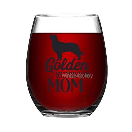 Copa de vino divertida, Golder Retriever Mom, copas de vino sin tallo, 15 onzas, vaso de vino, copas de fiesta para beber, copas de vino gigante, copas de vino blanco tinto, regalos para mamá mujeres