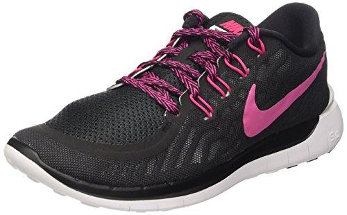 Nike Free 5.0 Damen Laufschuhe,Mehrfabig (Schwarz/lebendiges Pink - Weiß 061),36.5 EU