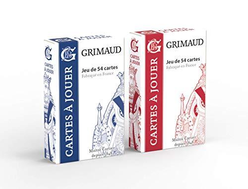 Grimaud Origine - 2 Jeux de 54 Cartes - Jeu de Cartes