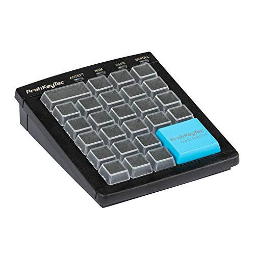 Programmierbare Tastatur MCI 30 - Farbe schwarz - Numerische Tastenmatrix ohne weitere Optionen - USB - Einfachtasten mit transparenten Kappen zur Selbstbeschriftung