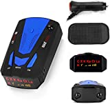 [2021 Upgrade] Radar Detectors for Cars, 360-Degree Monitoring Long-Distance Remote Warning, Full-Band Monitoring, Voice Prompt, Away from Fines. (Blue)