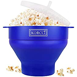 cheap Microwave oven compatible silicone popcorn, BPA-free foldable hot air popcorn maker …
