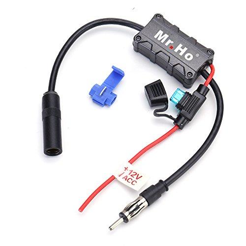 Mr. Ho Amplificatore Antenna per Auto AM FM Autoradio Segnale Radio Booster 12V Universali