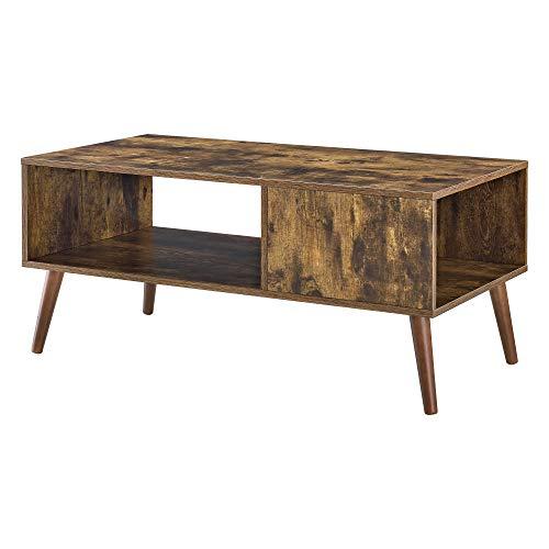 Soffbord Bord med Hylla Trä Melaminbelagd Spånskiva Mörk Träfärg 45x100x50cm
