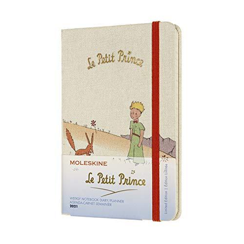 Moleskine 12 Monate Wochenkalender, Wochenplaner 2021, Der kleine Prinz limitierte Sonderausgabe, Thema Fuchs, fester Einband, Format Pocket 9 x 14 cm, 144 Seiten