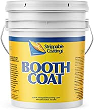 Booth Coating - Clear Peelable Paint Boothcoat - Protect Walls, Floors, Ceilings, Light Fixtures - Easy Spray On Protective Shield - Water Based Coat for Easy Peel or Wash Removal - 5 Gallon (5140)