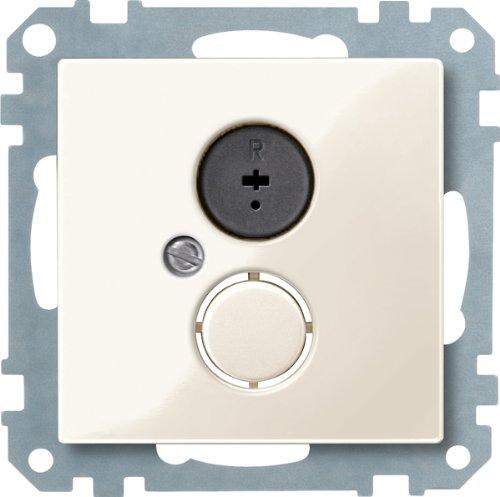 Merten 296944 Lautsprecher-Steckdosen-Einsatz, weiß glänzend, System M