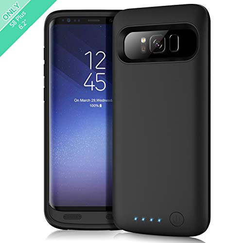 Battery Case for Galaxy S8 Plus, Feob Upgraded 6500mAh Portable Rechargeable Charger Case Extended Battery Pack for Samsung Galaxy S8 Plus Protective Charging Case for Galaxy S8+(6.2 inch) -Black