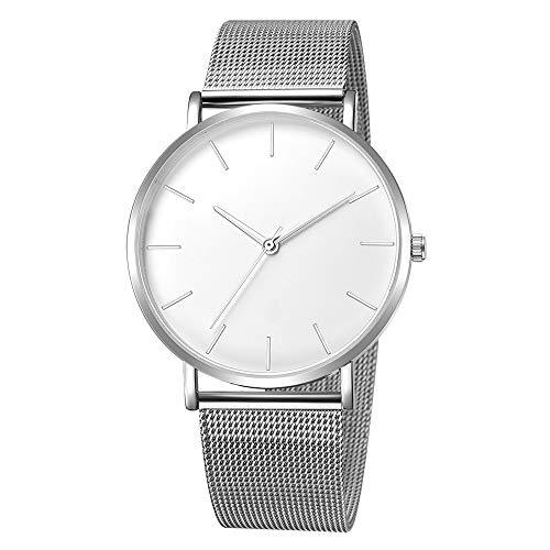 Quartz Uhren für Herren, Skxinn Männer Armbanduhr Zifferblatt Analog Business Minimalistische Quartz Armbanduhren mit Edelstahl Band Ausverkauf(K,One Size)