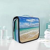 Bolsa de cosméticos Bolsa de viaje para colgar de viaje Océano Olas Viaje en el mar Bolsa de almacenamiento Bolsa de maquillaje portátil Bolsa organizadora para las mujeres