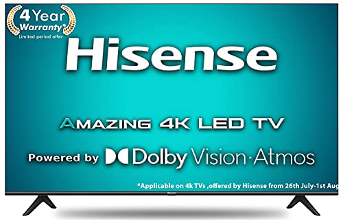 Hisense 126 cm (50 inches) 4K Ultra HD Smart Certified Android LED TV With Dolby Vision and ATMOS