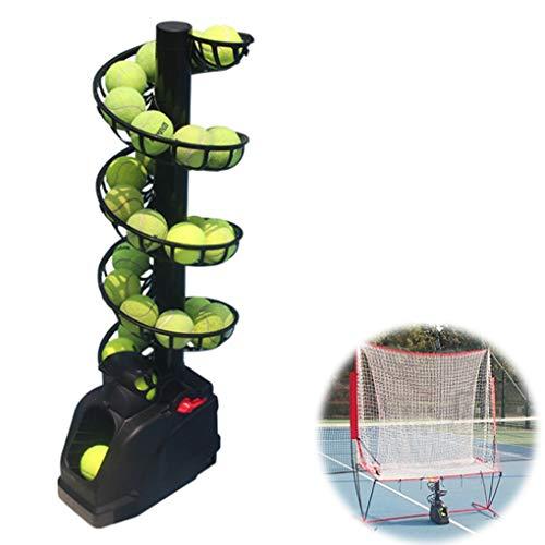 SWTY Máquina de Pelota de Tenis y Tutor de Tenis para niños Adultos, máquina de lanzar + Red de Captura + Pista Adicional, Ajuste Seguro en Tres etapas - Mejora Las Habilidades de bateo de los niños