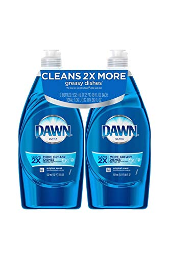 Dawn Ultra Dishwashing Liquid Detergent Dish Soap 3X Grease Cleaning Power, 2 Pack, 24 oz