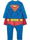 Warner Bros. DC Comics Mono y Capa de Superman de Liga de la Justicia con Cierre de Cremallera - Elegante Conjunto de Disfraz para Niño Pequeño (2 Años)