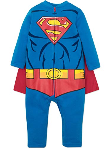 Warner Bros. Justice League Superman Baby Boys Costume Coverall & Cape (18 Months)