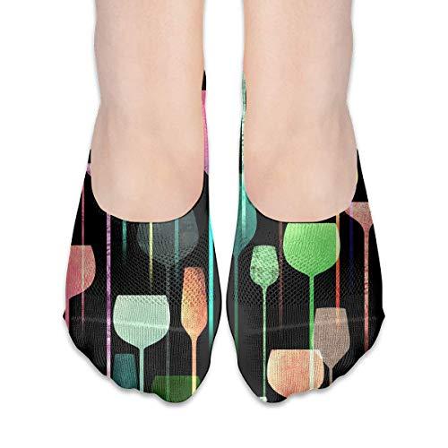 Socken für Frauen Weinglas Cocktail Low Cut Socken Liner unsichtbare Socken