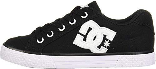 DC Women's Chelsea Low Top Casual Skate Shoe, Black/White/Black, 7 M US