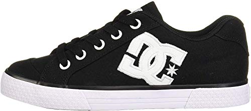 DC Women's Chelsea TX Skate Shoe, Black/White/Black, 7.5 M US