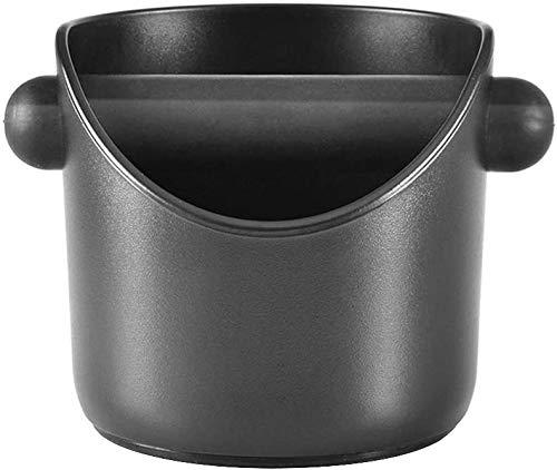 Abklopfbehälter für Kaffeesatz, Kaffeesatzbehälter, Pulverrückstandsbox, Schlackentank, Kaffeemaschinenzubehör, Kaffeesatzeimer (Schwarz)