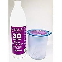 Kit decoloración sin amoniaco para el pelo Neala. Decolorante sin amoniaco azul en polvo 500ml. + Oxidante de 30vols. 1 Litro.