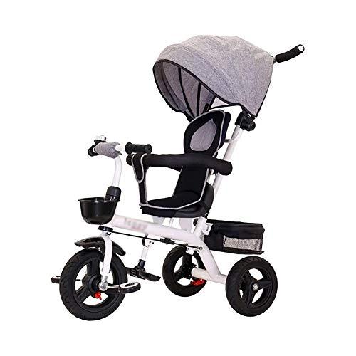 TQJ Cochecito de Bebe Ligero Niños Los Niños Triciclo Triciclo 4 En 1 con El Pedal De Bloqueo De Ruedas Y Silencioso, Fit A Partir De 6 Meses A 6 Años (Color : #2)