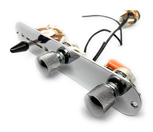 Telecaster USA besturingsplaat kabelboom met CTS Custom Post Oak schakelaar Orange Drop