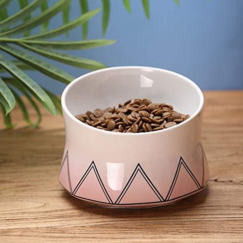 Huisdier voedsel lade nek beschermer kat kom voedsel huisdier kom voeding station hoge kwaliteit hond kom geschikt huisdier water en voedsel kom 16x16x12cm roze