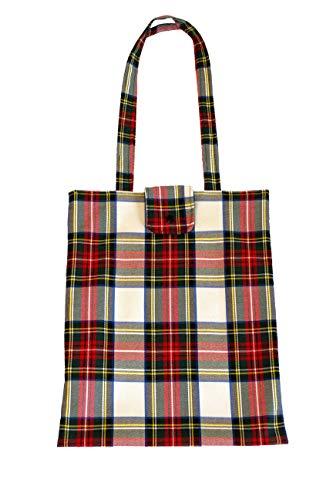 Splash Bolso Shopper Cuadros Escoceses (Fondo Blanco)
