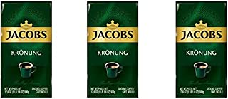 Jacobs Kronung Ground Coffee 500 Gram / 17.6 Ounce (Pack of 3)