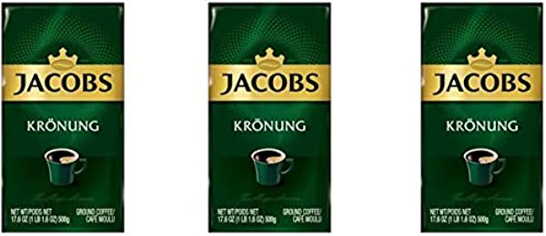 Jacobs Kronung Ground Coffee 500 Gram 17 6 Ounce Pack Of 3