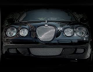 3 Pcs Lower Bumper Mesh Grille Finisher Overlay for Jaguar S-Type 2008 Models