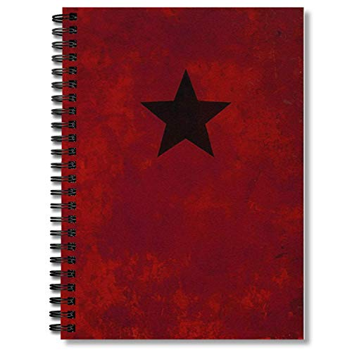 Spiral Notebook Winter Soldier Red Journal Composition Notebooks Journal With Premium Thick Paper