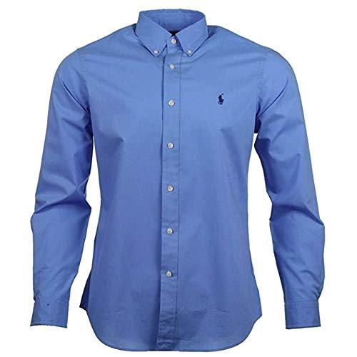 Ralph Lauren Herren Hemd - Classic Fit - Blau, Pink (Blau, M)