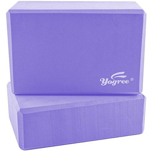 yogree High Density EVA Foam Brick Yoga Block, (9 x 6 x...