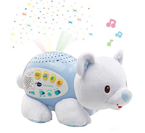 VTech Baby - Ártico estrellitas, Proyector de Bebe con música Relajante para ayudarle a Dormir, Historias, Sonidos de la Naturaleza, rimas Infantiles y Canciones de Cuna, Temporizador (80-506922)