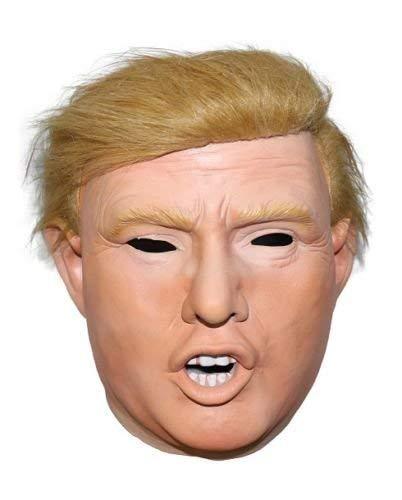 The Rubber Plantation TM 619219292184 Donald Trump Halloween Billionaire Presidente Presidenziale Costume Accessorio Testa Maschera con Parrucca Attaccata, Unisex-Adulto, Taglia Unica