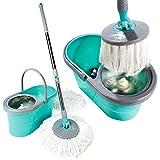 Bergman Spin Mop And Bucket - Super-Absorbent Microfiber Floor Mop, Spin Mop