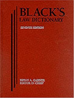 Black's Law Dictionary 7th Edition